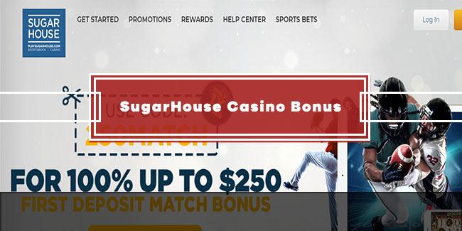 Spinit sugarhouse casino bonus code 100% match up to $250 slots free online game